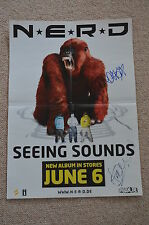 Pharrell Williams Signed Autograph In Person N.E.R.D. Poster Happy EXTREMELY RARE!!!