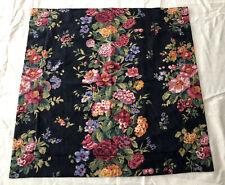 Ralph Lauren Black Floral Damask Euro Sham Large Zip Pillow Cover Custom Made