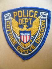 Patches: COTTAGE GROVE OREGON USA POLICE PATCH (NEW* apx. 10x9.5 cm)