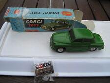 CORGI  204M ECHANICAL ORIGINAL PLAYWORN CAR IN WORN RARE ORIGINAL BOX +BADGE