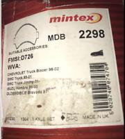"""Mintex Disc Brake Pad Set - MDB2298 - Fits Chev, GMC, Isuzu, Olds """"S"""" - Front"""