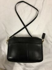 Woman Vintage Black All Leather Coach Cross body Excellent Condition No 5010