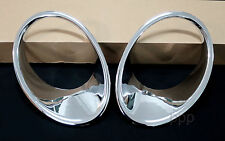 CHROME HEAD LAMP LIGHT COVER TRIM FOR NISSAN JUKE 4DOOR HATCHBACK 2011-2014 FIT