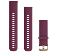 Garmin Quick Release Replacement Watch Silicone Bands (20mm Berry) 010-12691-05