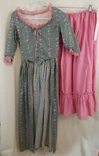 Colonial Era Dress / Petticoat Girls Size Large Theater Reenactment Homemade