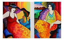 Patricia Govezensky Set of Two Original Hand-Signed Watercolor- Night in Paris