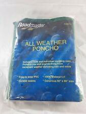 Roadmaster All Weather Rain Poncho Vintage 1999 Green