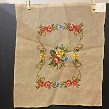 New Needlepoint Tapestry Floral Canvas Unfinished Chair Footstool Cover Portugal