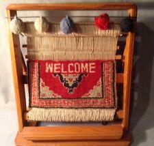 Vintage Table Top Weaving Loom Display