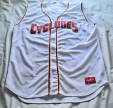 Authentic Brooklyn Cyclones Sleeveless Button Down Rawlings Jersey - Size 52