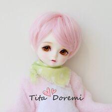 1 3 8-9 Bjd wig MSD MDD Luts Obitsu60 DD Doll PINK short wig hair