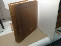Scott National 2-Post Leather Album w/Stationery pages 1853-1921 very rare!   8