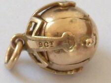 9ct antico segreto I MASSONI massonica Orologio Fob-Ball, Croce e Argento A7231