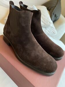 Wolverine 1000 Mile Montague Chelsea Brown Suede Boots Size 11 MSRP $295