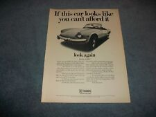 """1969 Triumph Spitfire Mk3 Vintage Ad """"If This Car Looks Like You Can't Afford.."""""""