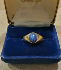 10 K Gold Men's Blue Sapphire Ring (Used)