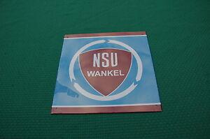 Plate Advertising IN Sheet Age Golden N° 67 NSU Wankel 8 5/16X8 5/16in