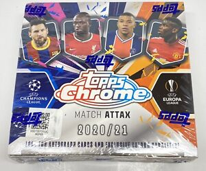 2020-21 Topps Chrome UEFA Champions League Match Attax Sealed Soccer Box