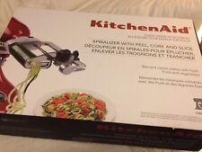 KitchenAid Mod KSM1APC Spiralizer Peel Core Slice Works with All Stand Mixers