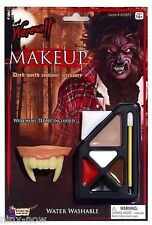 Werewolf MAKEUP Kit with TEETH 5 colour blendable fancy dress costume accessory