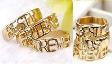 R123 Betsey Johnson BEST FRIEND FOREVER 3 Pcs Set Graduation Gift Ring US