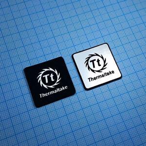 2 x THERMALTAKE Sticker Aluminium - Metallic Logo Case Badge - 1 inch x 1 inch