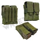 VISM NcSTAR Tactical MOLLE AR15 AK .223 5.56 7.62 Quad 4 Magazine Pouch Green