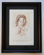 "Salvador Dali ""Portrait of Gala"" Hand Signed Framed Limited Edition Etching"