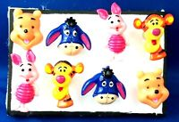 WINNIE POOH Characters - Set of 8 Push Pin Handmade Decorative Thumb Tacks
