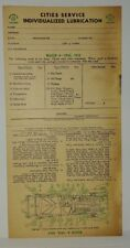 """1932 1933  BUICK  8 CYL.""""CITIES SERVICE"""" LUBRICATION RECORD (AUTHENTIC)"""