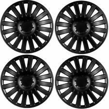 4 x Radkappen Radzierblenden 15 Zoll schwarz matt von Versaco Typ Smart black
