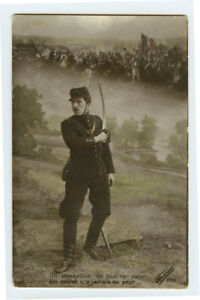 WWI ww1 First World War One First Cavalry SABER FIGHTING Soldier photo postcard