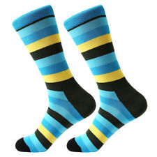 Mens Combed Cotton Socks Colorful Diamond Stripe Dots Novelty Funny Dress SOX