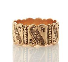 Big! Antique Victorian 10k Gold Cigar Wedding Band 051617060