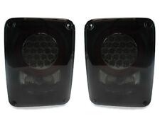 DEPO ERROR FREE LED Pair Black Smoked Tail Lights For 2007-2014 Jeep Wrangler JK