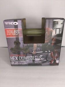 NEW TKO 10 Lb Pounds Set Dumbbells 5 Pounds Each Tone Strength Exercise
