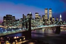 diamond painting  30 x 20 cm - WORLD TRADE TOWERS AT NIGHT- STOCK IN USA
