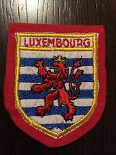 Patch toppa CM8X6 scudetto in stoffa ricamato LUXEMBOURG LUSSEMBURGO