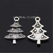 20pc Tibetan Silver Christmas tree Charm Beads Pendant Jewellery Making PL859