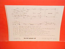 1962 1963 STUDEBAKER LARK DAYTONA REGAL CUSTOM SEDAN WAGON FRAME DIMENSION CHART