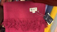 100% Cashmere Throw Blanket | Johnston of Elgin | Purple | Made in Scotland