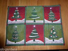 Ensemble de 6 arbre de Noël Festive Clignotant Tableau napperons avec lumières led