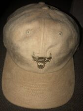 6320f97a238 Mitchell   Ness NBA Chicago Bulls Micro Suede Strapback Hat  28 Tan