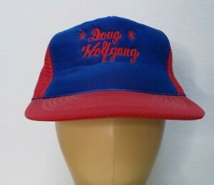 The Wolf Doug Wolfgang Vintage World of Outlaws USAC Sprint Car Truckers Hat Cap