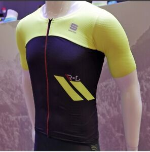 Sportful R&D Cima Jersey Men Sz L Black/Yellow