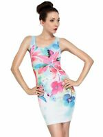 Women Ladies Floral Bodycon Mini Short Dress Party Evening Cocktail Dresses