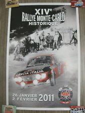 AFFICHE du XIVe RALLYE MONTE-CARLO HISTORIQUE 26 janvier au 2 février 2011 60 su