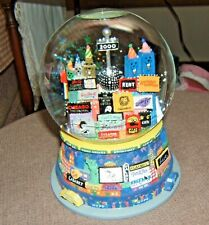 2000 Large Musical Snow Globe of Broadway & Plays Auld Lang Syne