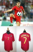 Portugal Ronaldo Jersey L Nike National Team Camiseta Red Euro 2008 Soccer Kit