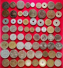 LOT 66 PIECES FRANCE (1698-1997) SANS DOUBLE / 66 FRENCH COINS / FRANCS (02)